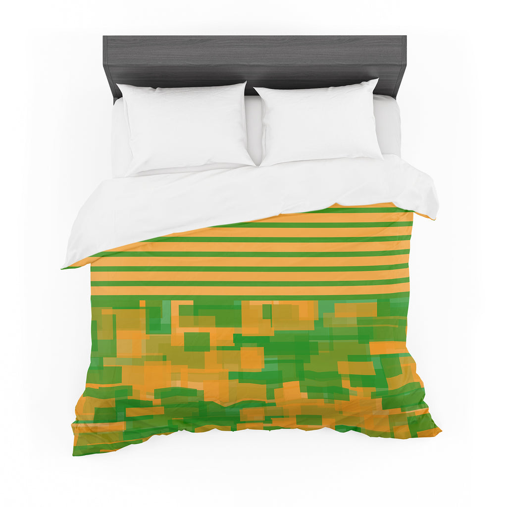 "Trebam ""Listati V2"" Orange Green Modern Vector Featherweight Duvet Cover"