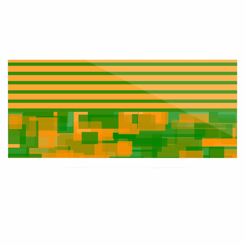 "Trebam ""Listati V2"" Orange Green Modern Vector Luxe Rectangle Panel"