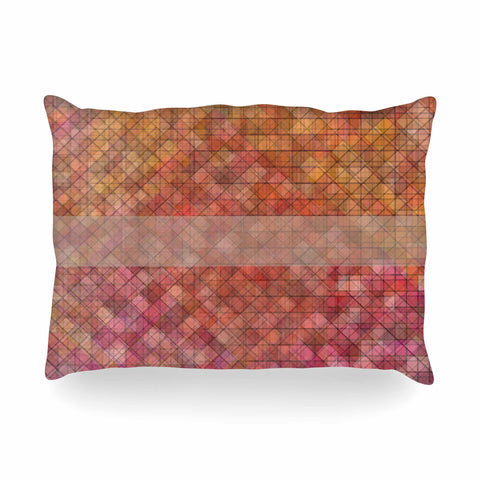 "Trebam ""Pacio"" Red Brown Digital Oblong Pillow"
