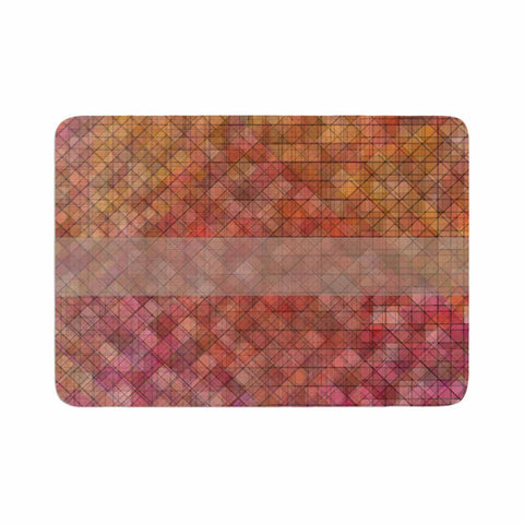 "Trebam ""Pacio"" Red Brown Digital Memory Foam Bath Mat"