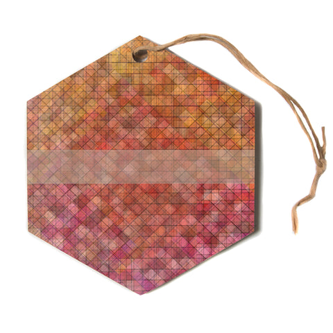 "Trebam ""Pacio"" Red Brown Digital Hexagon Holiday Ornament"