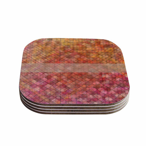 "Trebam ""Pacio"" Red Brown Digital Coasters (Set of 4)"
