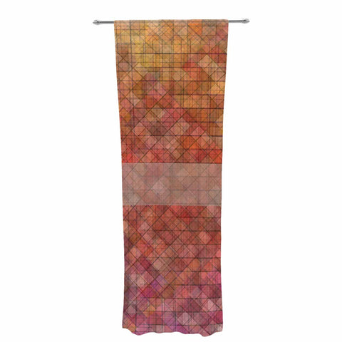 "Trebam ""Pacio"" Red Brown Digital Decorative Sheer Curtain"