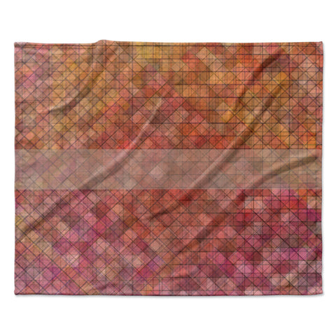 "Trebam ""Pacio"" Red Brown Digital Fleece Throw Blanket"