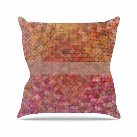 "Trebam ""Pacio"" Red Brown Digital Outdoor Throw Pillow"