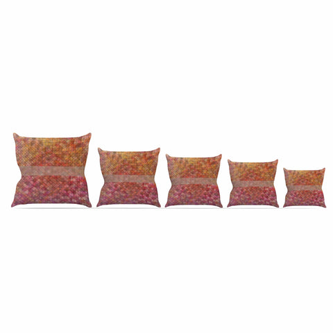 "Trebam ""Pacio"" Red Brown Digital Throw Pillow"