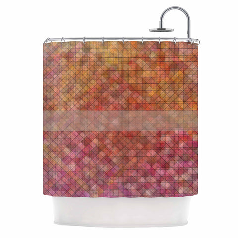 "Trebam ""Pacio"" Red Brown Digital Shower Curtain"
