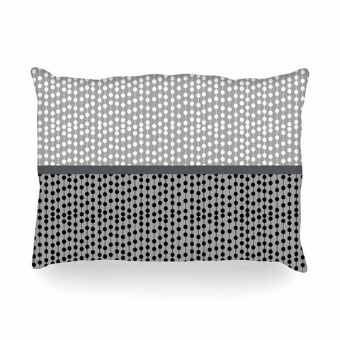 "Trebam ""Okomito"" Gray Black Digital Oblong Pillow"