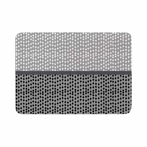 "Trebam ""Okomito"" Gray Black Digital Memory Foam Bath Mat"