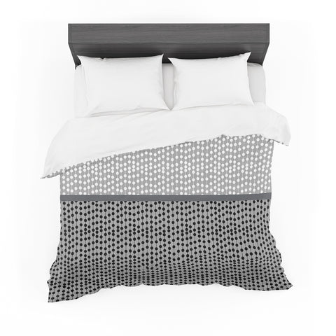 "Trebam ""Okomito"" Gray Black Digital Featherweight Duvet Cover"