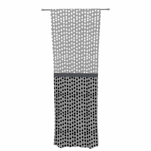 "Trebam ""Okomito"" Gray Black Digital Decorative Sheer Curtain"