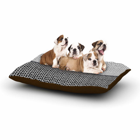 "Trebam ""Okomito"" Gray Black Digital Dog Bed"