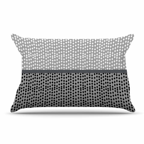 "Trebam ""Okomito"" Gray Black Digital Pillow Sham"