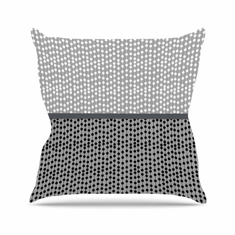 "Trebam ""Okomito"" Gray Black Digital Outdoor Throw Pillow"