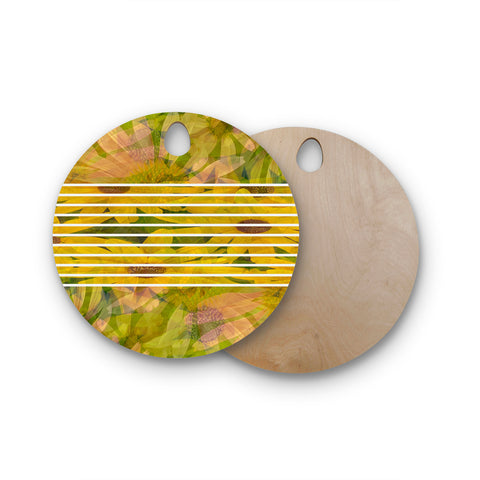 "Trebam ""Bucket""  Round Wooden Cutting Board"