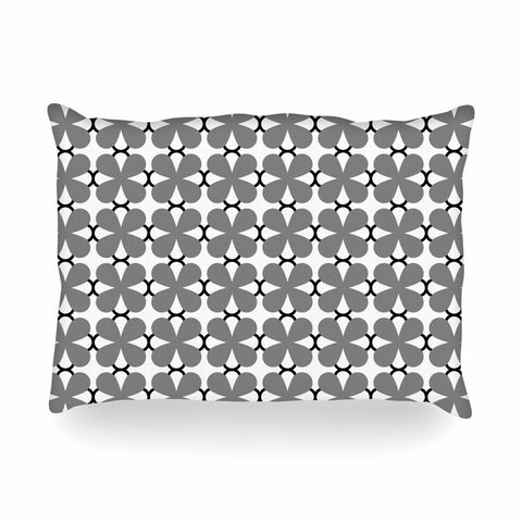 "Trebam ""Lepeza"" Gray White Modern Contemporary Digital Vector Oblong Pillow"