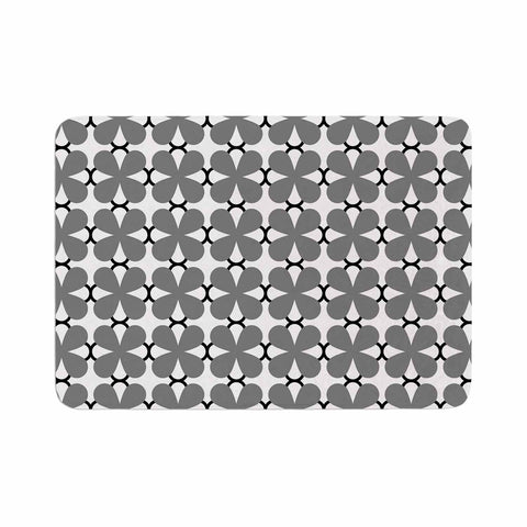 "Trebam ""Lepeza"" Gray White Modern Contemporary Digital Vector Memory Foam Bath Mat"