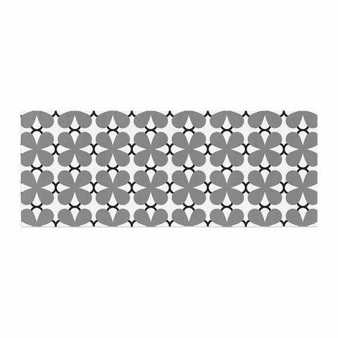 "Trebam ""Lepeza"" Gray White Modern Contemporary Digital Vector Bed Runner"