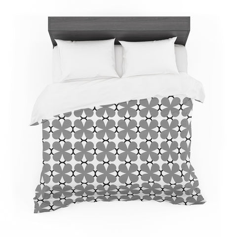 "Trebam ""Lepeza"" Gray White Modern Contemporary Digital Vector Featherweight Duvet Cover"