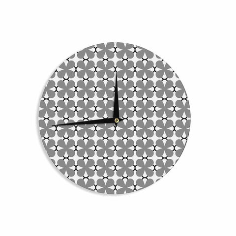 "Trebam ""Lepeza"" Gray White Modern Contemporary Digital Vector Wall Clock"