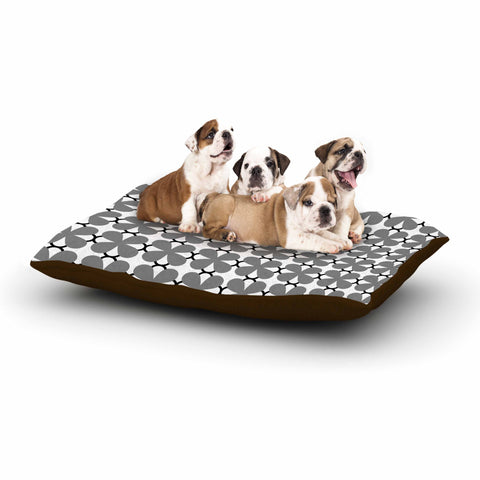 "Trebam ""Lepeza"" Gray White Modern Contemporary Digital Vector Dog Bed"