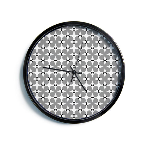 "Trebam ""Lepeza"" Gray White Modern Contemporary Digital Vector Modern Wall Clock"