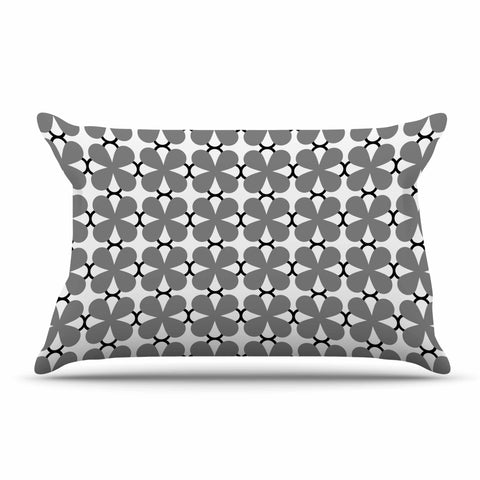"Trebam ""Lepeza"" Gray White Modern Contemporary Digital Vector Pillow Sham"