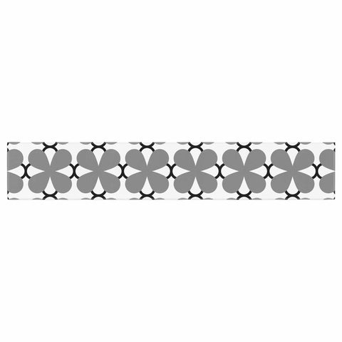 "Trebam ""Lepeza"" Gray White Modern Contemporary Digital Vector Table Runner"