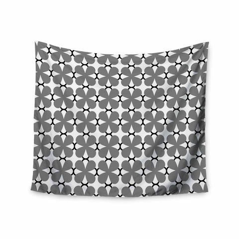 "Trebam ""Lepeza"" Gray White Modern Contemporary Digital Vector Wall Tapestry"