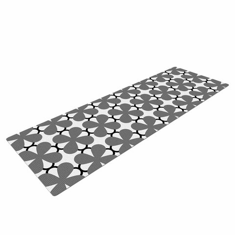 "Trebam ""Lepeza"" Gray White Modern Contemporary Digital Vector Yoga Mat"