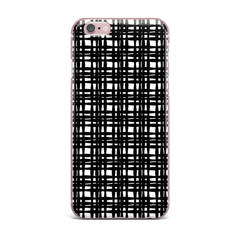 "Trebam ""Kariran (Black/White)"" Gray White Modern Contemporary Digital Vector iPhone Case"