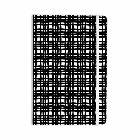 "Trebam ""Kariran (Black/White)"" Gray White Modern Contemporary Digital Vector Everything Notebook"