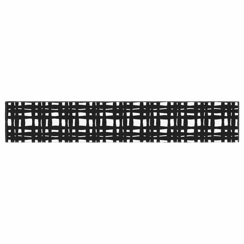 "Trebam ""Kariran (Black/White)"" Gray White Modern Contemporary Digital Vector Table Runner"