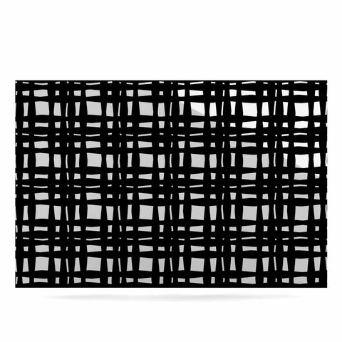 "Trebam ""Kariran (Black/White)"" Gray White Modern Contemporary Digital Vector Luxe Rectangle Panel"