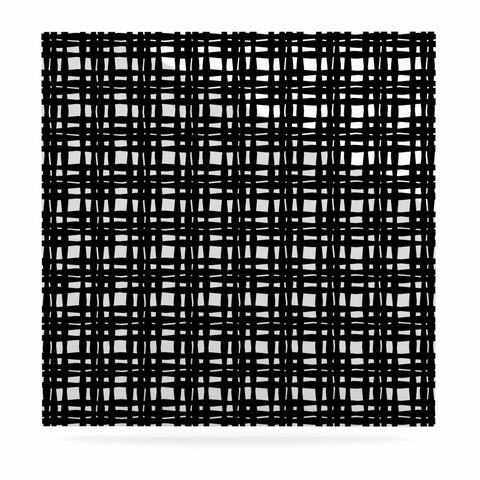 "Trebam ""Kariran (Black/White)"" Gray White Modern Contemporary Digital Vector Luxe Square Panel"