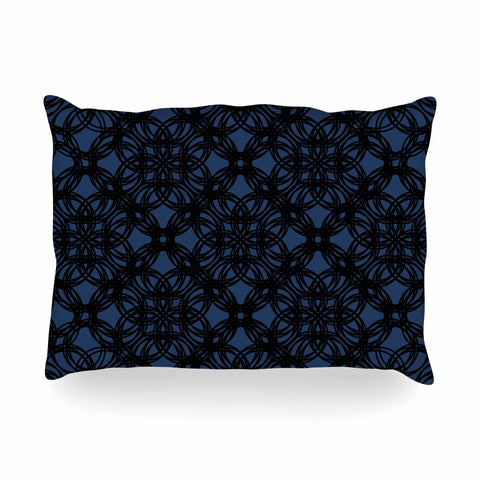 "Trebam ""Povezati"" Black White Modern Contemporary Digital Vector Oblong Pillow"