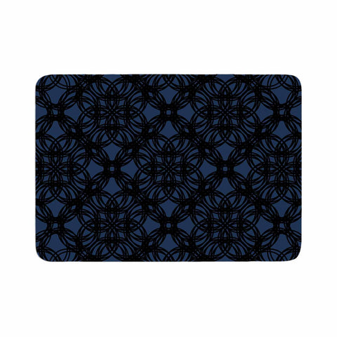 "Trebam ""Povezati"" Black White Modern Contemporary Digital Vector Memory Foam Bath Mat"