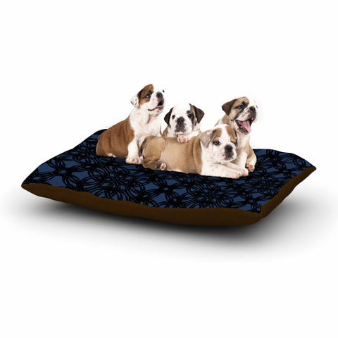 "Trebam ""Povezati"" Black White Modern Contemporary Digital Vector Dog Bed"