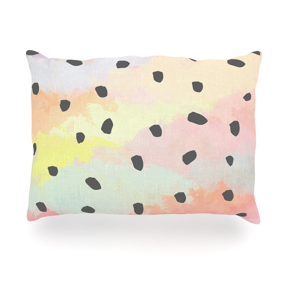 "Strawberringo ""With Dots"" Pastel Painting Oblong Pillow - KESS InHouse"