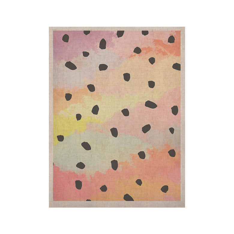 "Strawberringo ""With Dots"" Pastel Painting KESS Naturals Canvas (Frame not Included) - KESS InHouse  - 1"