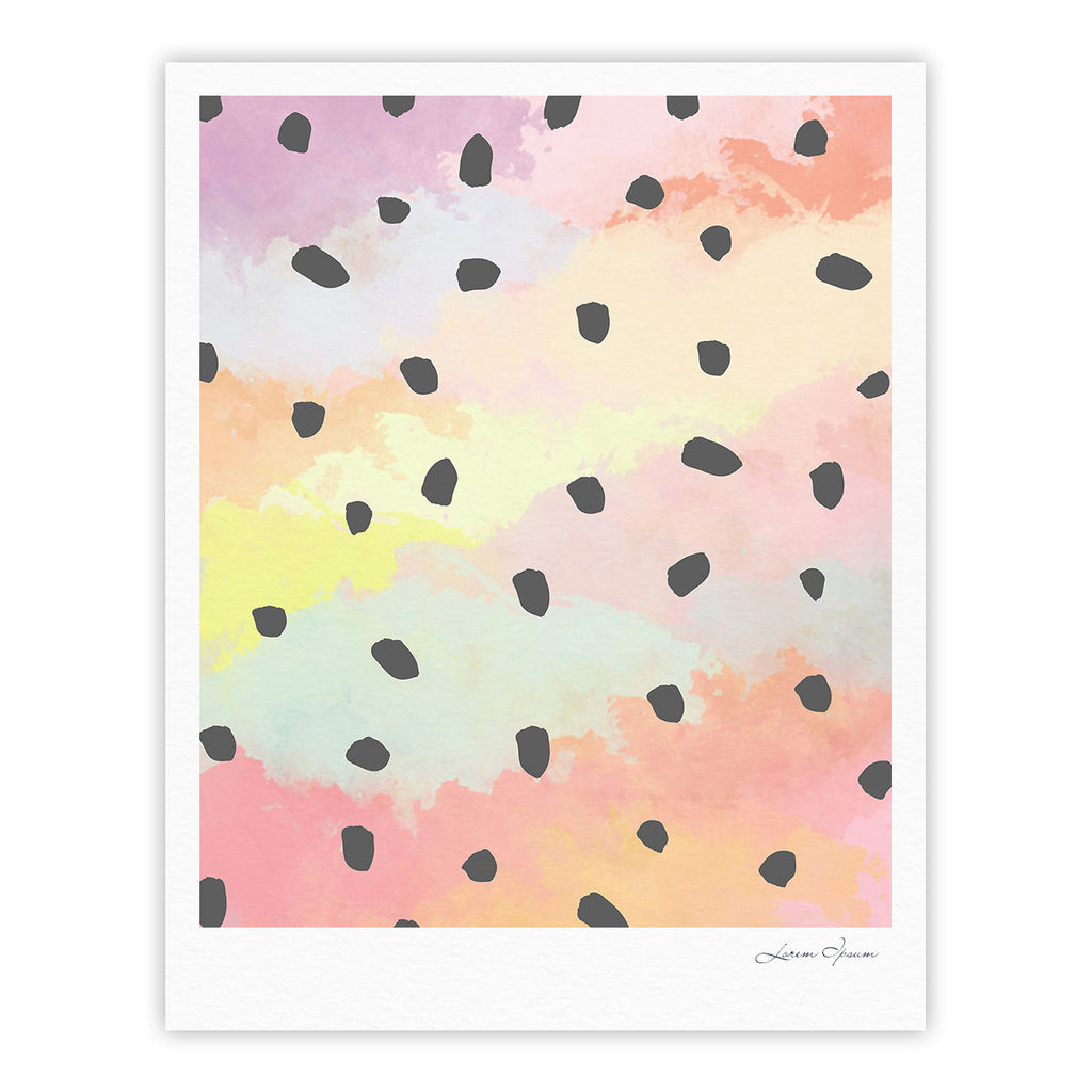 "Strawberringo ""With Dots"" Pastel Painting Fine Art Gallery Print - KESS InHouse"