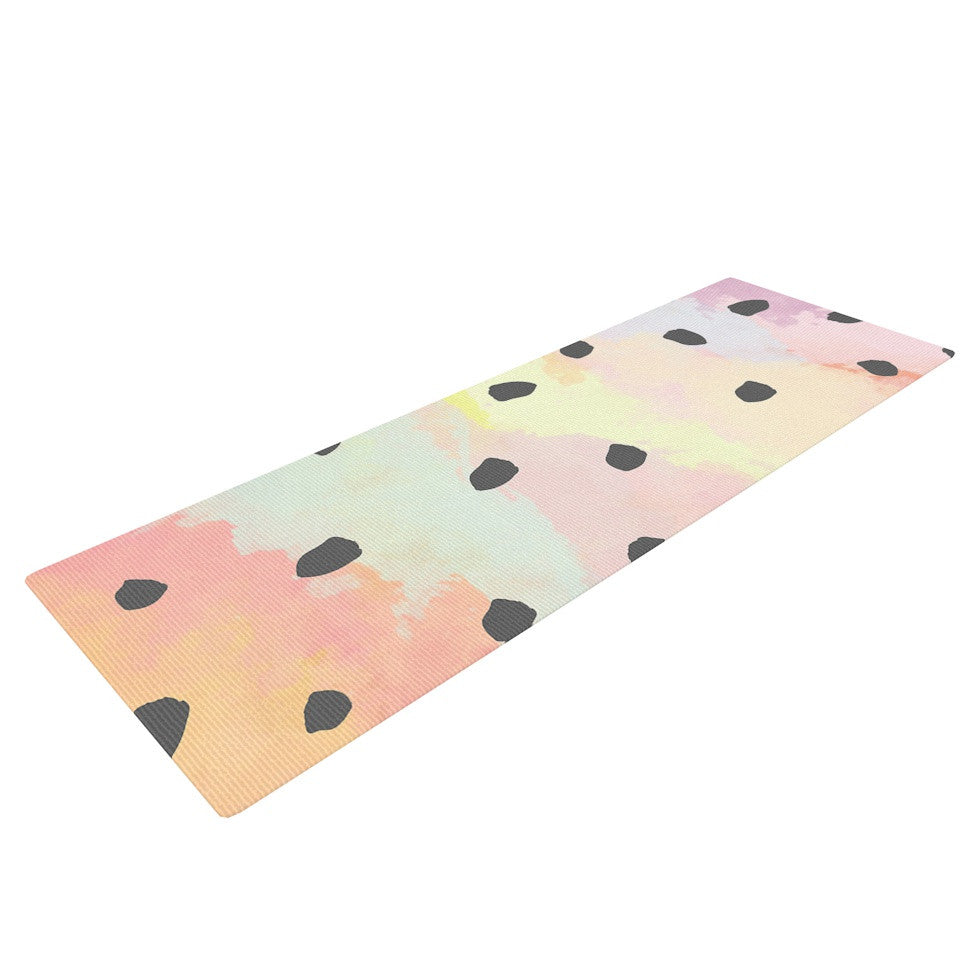 "Strawberringo ""With Dots"" Pastel Painting Yoga Mat - KESS InHouse  - 1"