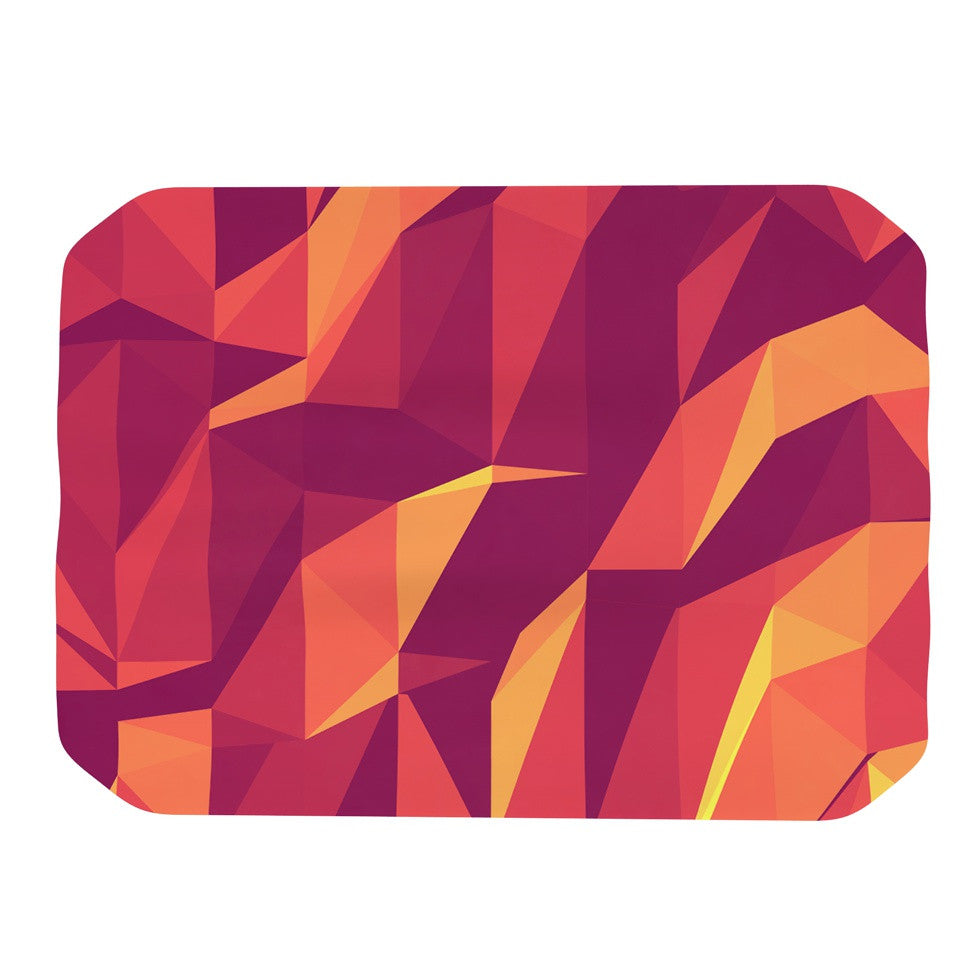 "Strawberringo ""Abstract Mountains"" Orange Abstract Place Mat - KESS InHouse"