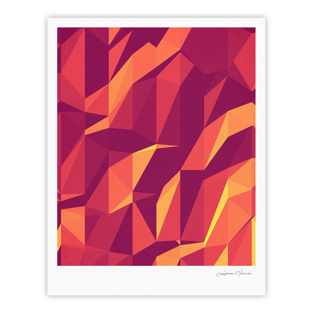 "Strawberringo ""Abstract Mountains"" Orange Abstract Fine Art Gallery Print - KESS InHouse"