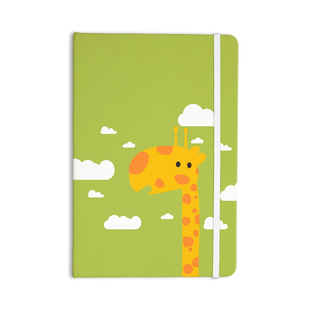 "Strawberringo ""Baby Giraffe"" Green Yellow Everything Notebook - KESS InHouse  - 1"