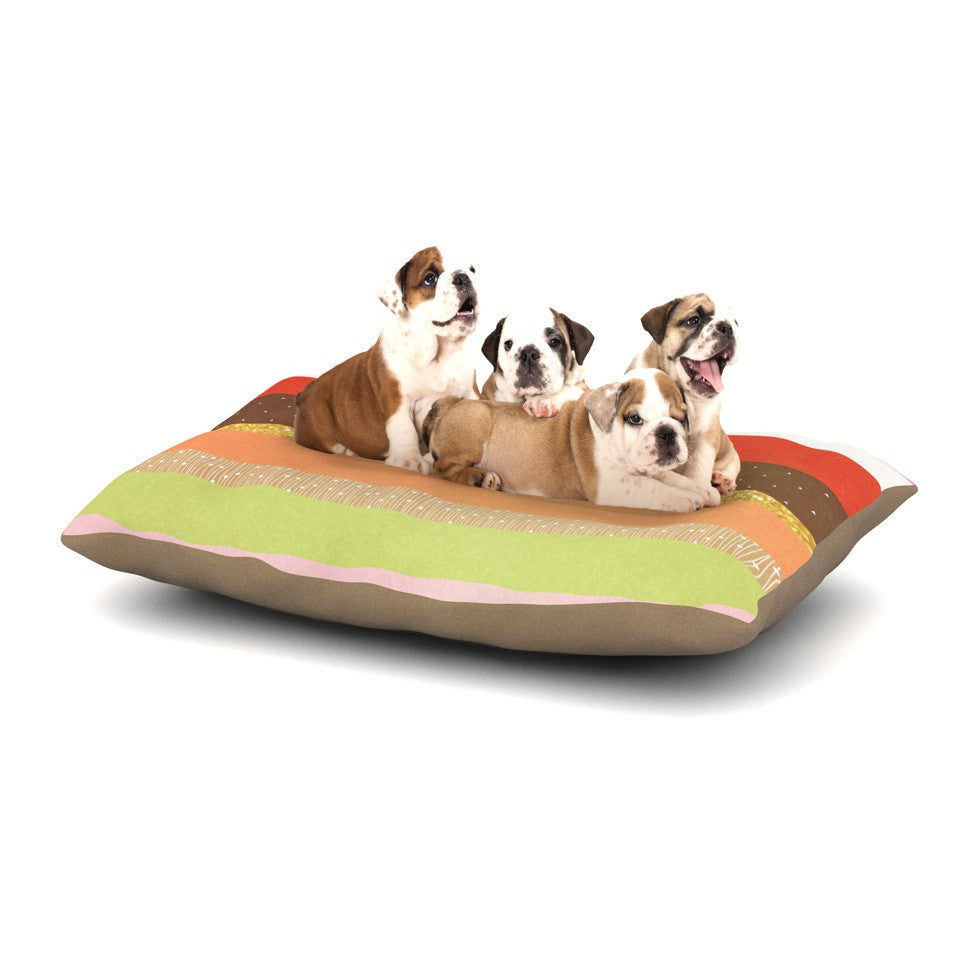 "Strawberringo ""Mix"" Multicolor Hodge Podge Dog Bed - KESS InHouse  - 1"