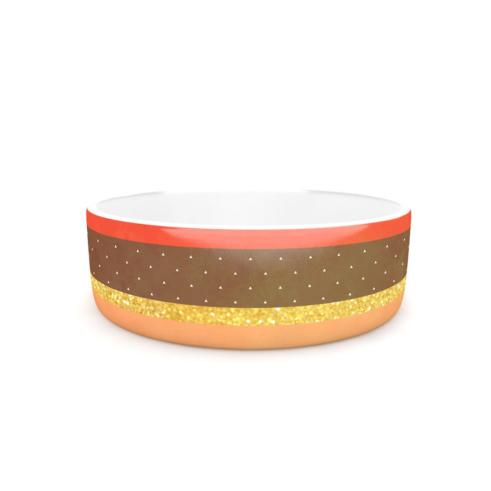 "Strawberringo ""Mix"" Multicolor Hodge Podge Pet Bowl - KESS InHouse"
