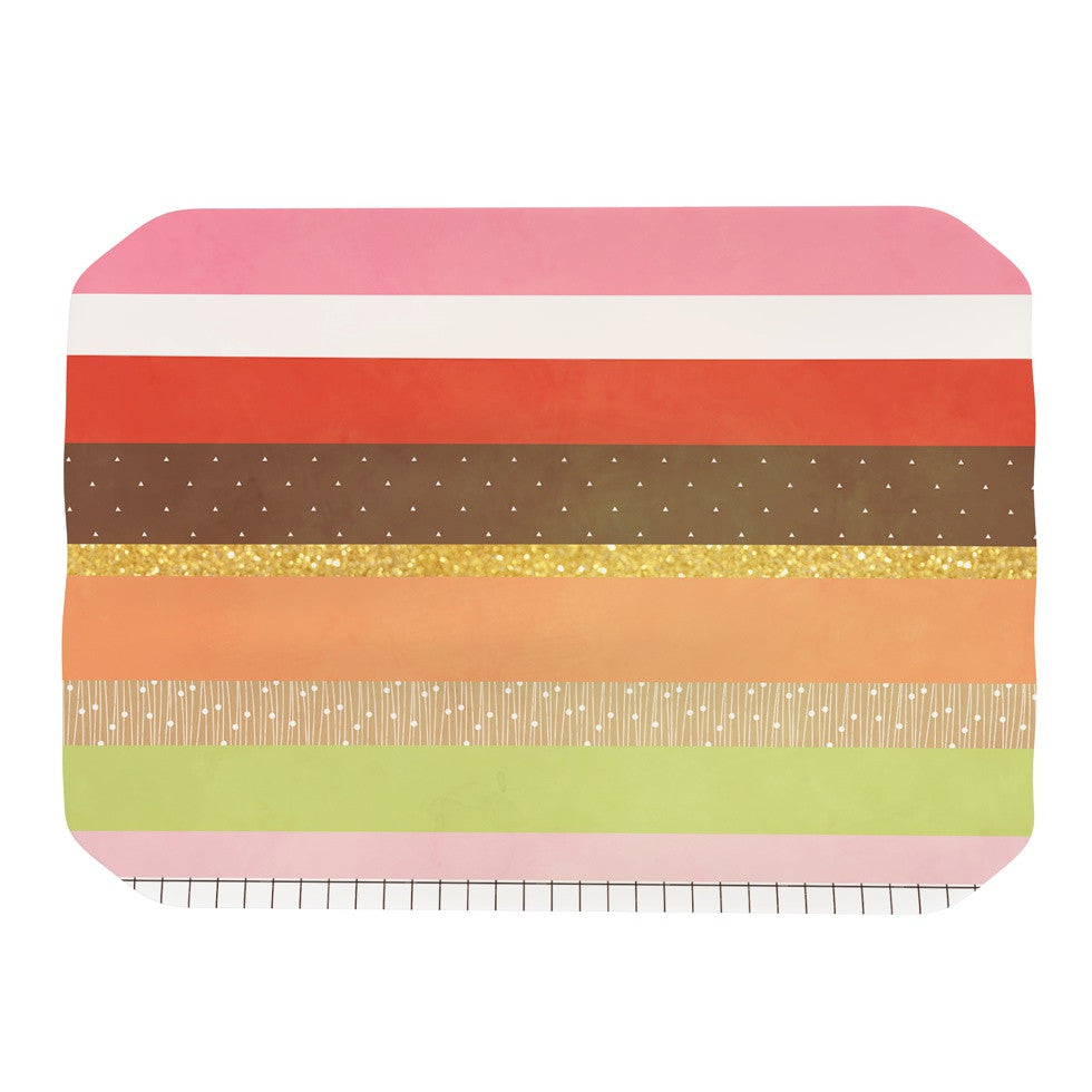 "Strawberringo ""Mix"" Multicolor Hodge Podge Place Mat - KESS InHouse"