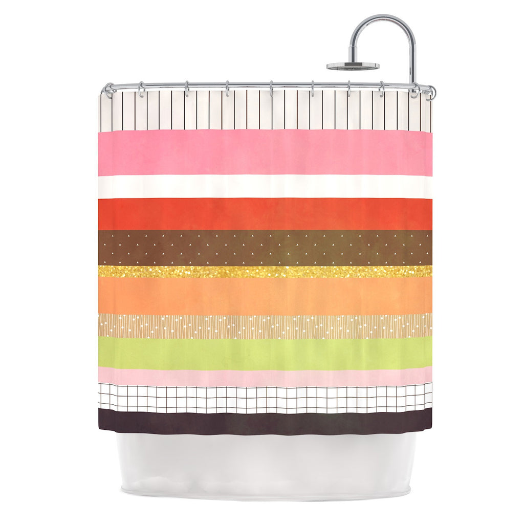 "Strawberringo ""Mix"" Multicolor Hodge Podge Shower Curtain - KESS InHouse"
