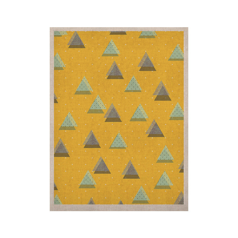 "Strawberringo ""Triangles"" Yellow Geometric KESS Naturals Canvas (Frame not Included) - KESS InHouse  - 1"